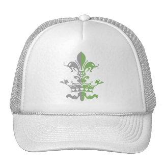Corona del corazón de Fleur - verde Gorras