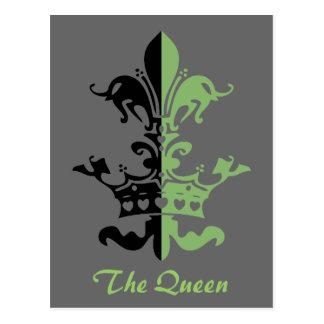 Corona del corazón de Fleur - verde Tarjetas Postales