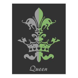 Corona del corazón de Fleur - verde Postal