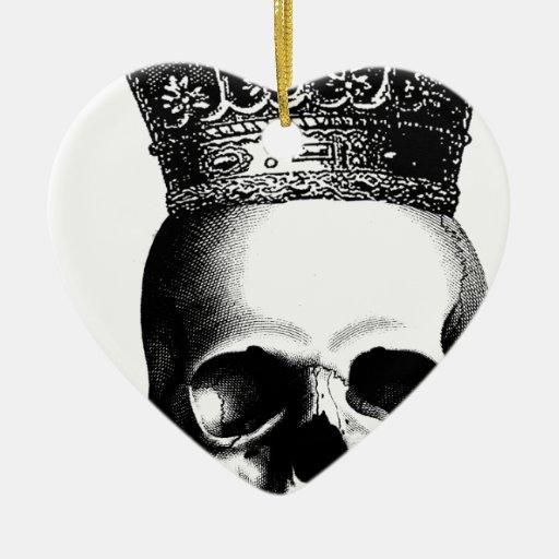 Corona del cráneo de Halloween real Ornamente De Reyes