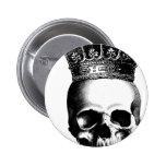 Corona del cráneo de Halloween real Pin Redondo 5 Cm