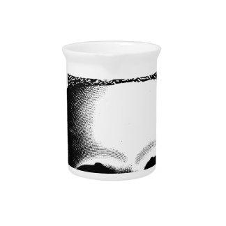 Corona del cráneo real jarra de beber