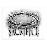 Corona del diseño del clavo del sacrificio de las  postales