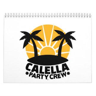 Corona del fiesta de Calella Calendario De Pared