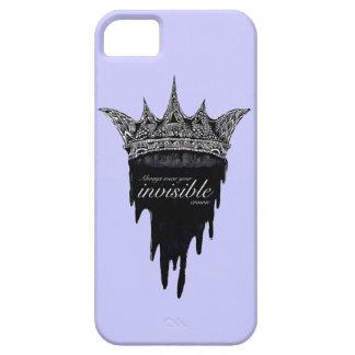 Corona del goteo con el texto - v2 iPhone 5 carcasas