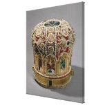 Corona del inglete fijada con las perlas y muy lona estirada galerías