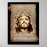 Corona del Jesucristo de espinas en voluta Posters
