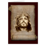 Corona del Jesucristo de espinas en voluta Tarjeton