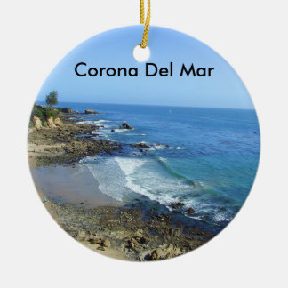 Corona Del Mar California CA Coast Beach Ornament