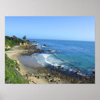 Corona Del Mar California CA Poster