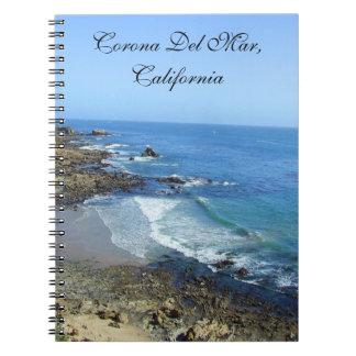 Corona Del Mar California Notebook