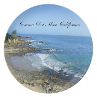 Corona Del Mar California Plate