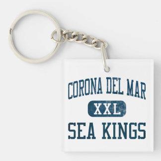 Corona del Mar Sea Kings Athletics Double-Sided Square Acrylic Keychain