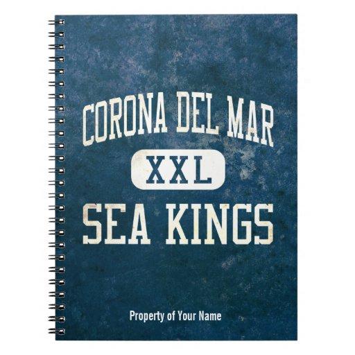 Corona del Mar Sea Kings Athletics Spiral Note Books