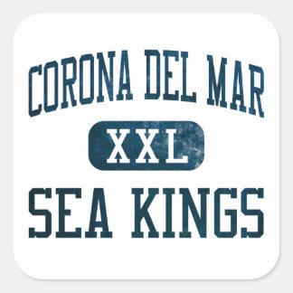 Corona del Mar Sea Kings Athletics Square Sticker