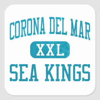 Corona del Mar Sea Kings Athletics Square Sticker