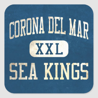 Corona del Mar Sea Kings Athletics Square Stickers