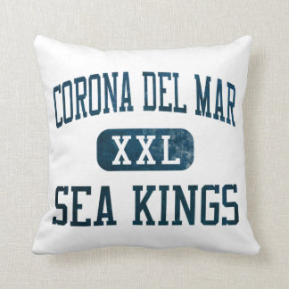 Corona del Mar Sea Kings Athletics Throw Pillow