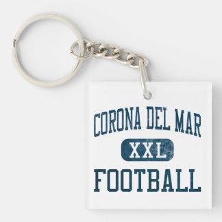 Corona del Mar Sea Kings Football Single-Sided Square Acrylic Keychain