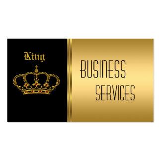 Corona del negro del oro de la tarjeta de visita