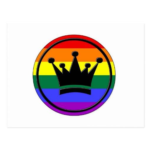Corona del orgullo de GLBT Tarjeta Postal