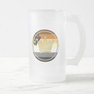 Corona del orgullo del oso taza de cristal