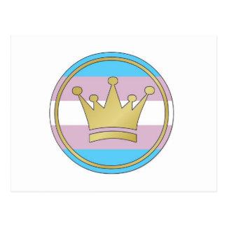 Corona del orgullo del transexual postal