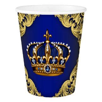 Corona del oro del azul real
