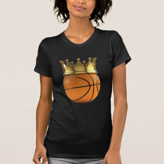 Corona del oro del campeón del baloncesto camiseta