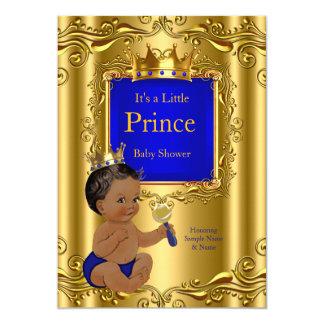 """Corona del oro del príncipe fiesta de bienvenida invitación 5"""" x 7"""""""