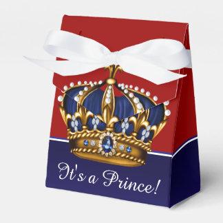Corona del oro del rojo azul pequeña fiesta de cajas para regalos