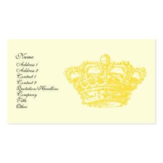 Corona del oro tarjetas de visita