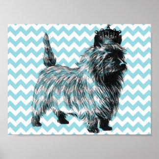 Corona del perrito del perro de Terrier de mojón Posters
