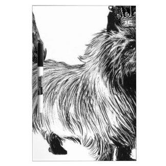 Corona del perrito del perro de Terrier de mojón Tableros Blancos