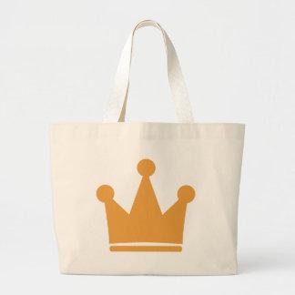 corona del rey bolsa tela grande