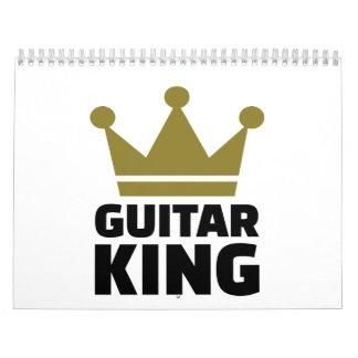 Corona del rey de la guitarra calendario
