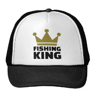 Corona del rey de la pesca gorras