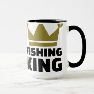 Corona del rey de la pesca taza