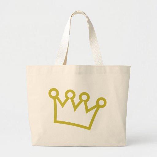 corona del rey del oro de lujo bolsa de mano