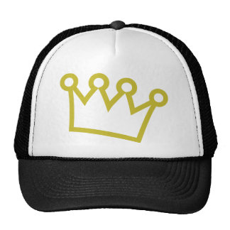 corona del rey del oro de lujo gorros