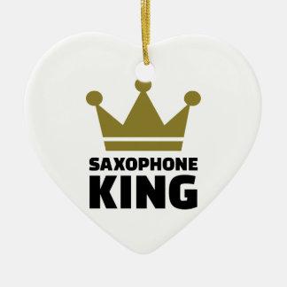 Corona del rey del saxofón ornato