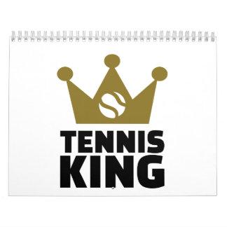 Corona del rey del tenis calendarios de pared