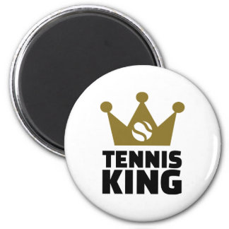 Corona del rey del tenis imán de nevera