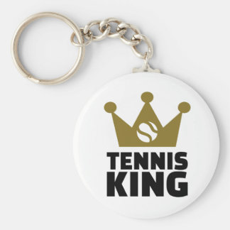 Corona del rey del tenis llaveros