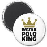 Corona del rey del water polo imán de frigorífico
