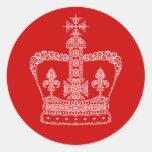 Corona del rey o de la reina etiquetas