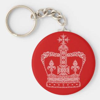 Corona del rey o de la reina llavero redondo tipo pin