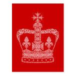 Corona del rey o de la reina tarjeta postal
