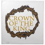 Corona del rey servilleta imprimida