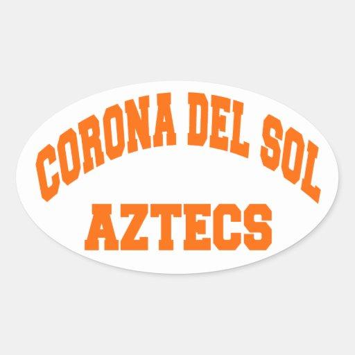 corona del sol aztecs stickers zazzle. Black Bedroom Furniture Sets. Home Design Ideas